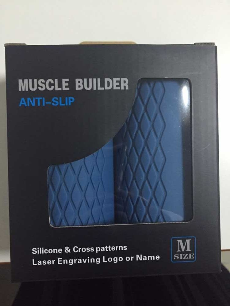 hot big size blue color Thick Bar Grips Turns Barbell, Dumbbell, and Kettlebell Into Thick Gripz For Muscle Growth