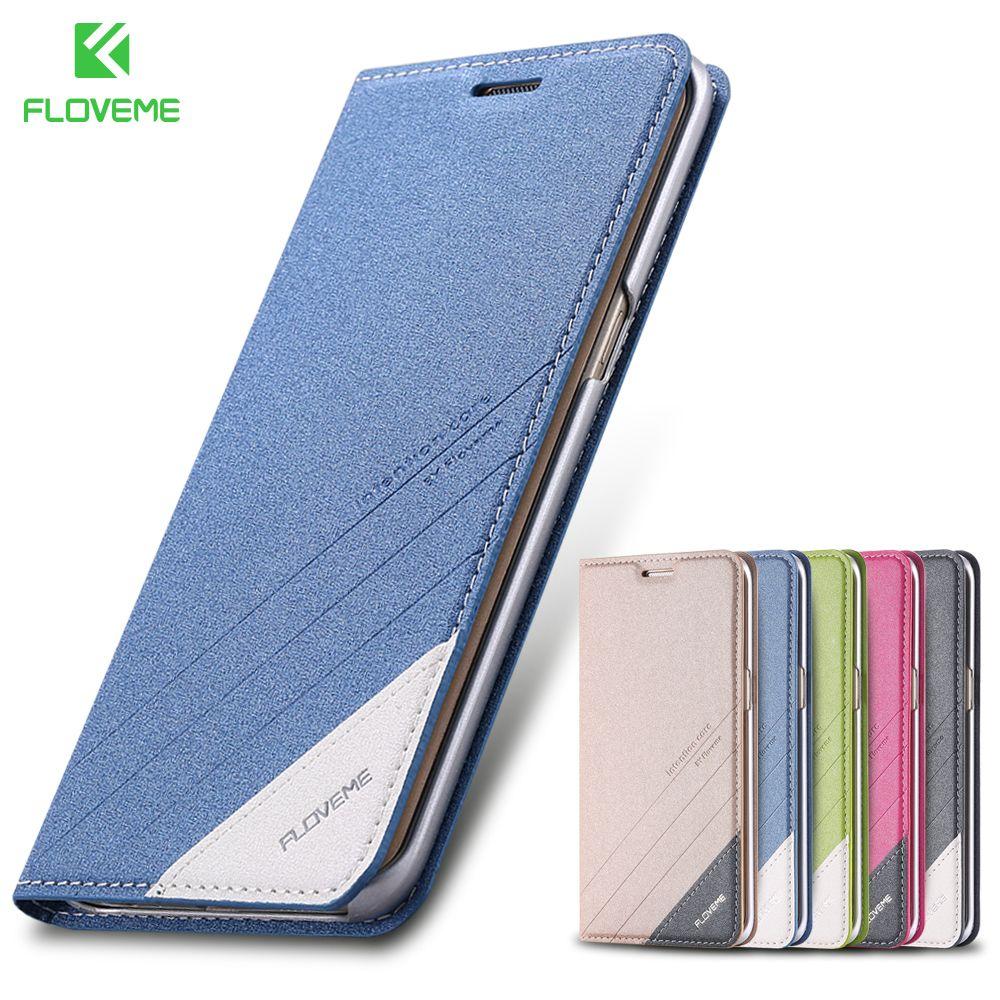 FLOVEME Flip Cas de Téléphone Pour Samsung Galaxy S6 S7 Bord Cas Magnétique Stand Wallet Card Slot Poche Pour Galaxy S8 s9 Plus Note 8 9