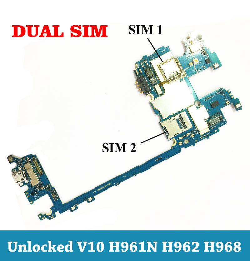 Ymitn Entsperrt Dual Sim Mobile Elektronische panel mainboard Motherboard Schaltungen Flex Kabel Für LG V10 H961 H962 H968