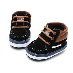 Delebao Autumn Spring Frosted Texture Soft Bottom Toddler Shoes By Hand Baby Shoes Cotton Shoes Keep Warm Lace Up First Walkers