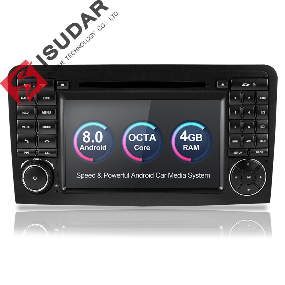 Isudar Auto Multimedia-Player GPS Android 8.0 2 Din Für Mercedes/Benz/GL ML KLASSE W164 ML350 4 GB RAM DSP Radio Mikrofon Wifi