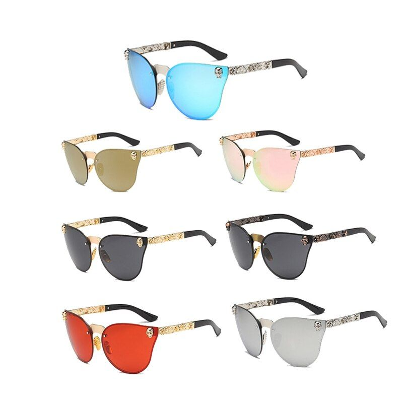 2018 Party Supplies Festival Party Halloween Sunglasses Women Gothic Eyewear Sunglasses Skull Frame Metal Temple