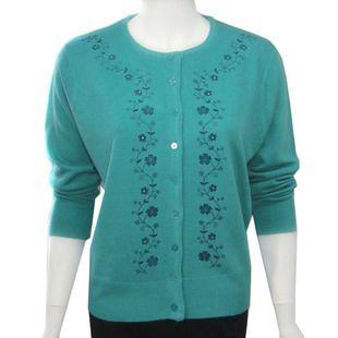 Femmes broderie hauts chandail mode all-match mère vêtements cardigan femmes chandail grande taille sweatershirt XXXL 4XL