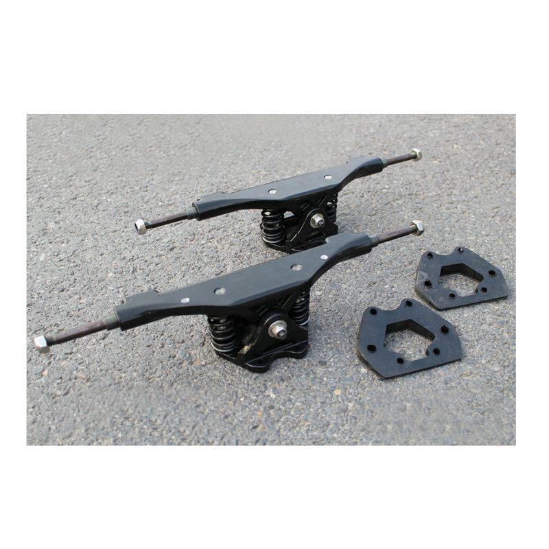 2pcs 11inch Electric Skateboard Truck Aluminum Bridge Rubber Gasket Long Board Trucks Riserpad