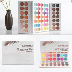 Kecantikan Mengkilap Makeup Eyeshadow Palet 63 Warna Ditekan Glitter Matte Membuat Eye Shadow Remastered Eyeshadow Pallet Set