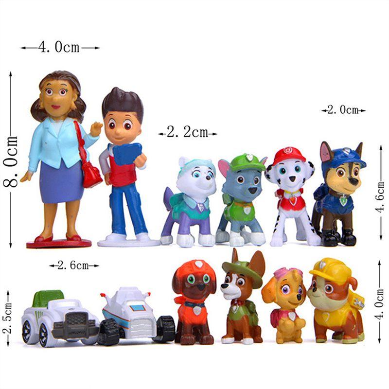 2019 nouveau 12 pcs/lot patte patrouille modèle Anime figure figurines Action bricolage poupée créative chiot jouet patrouillant canin jouets pour enfants