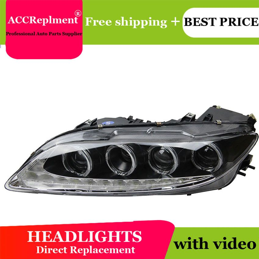 Car Styling for 2003-2014 Mazda 6 LED Headlights Mazda6 LED DRL Lens Double Beam H7 HID Xenon bi xenon lens