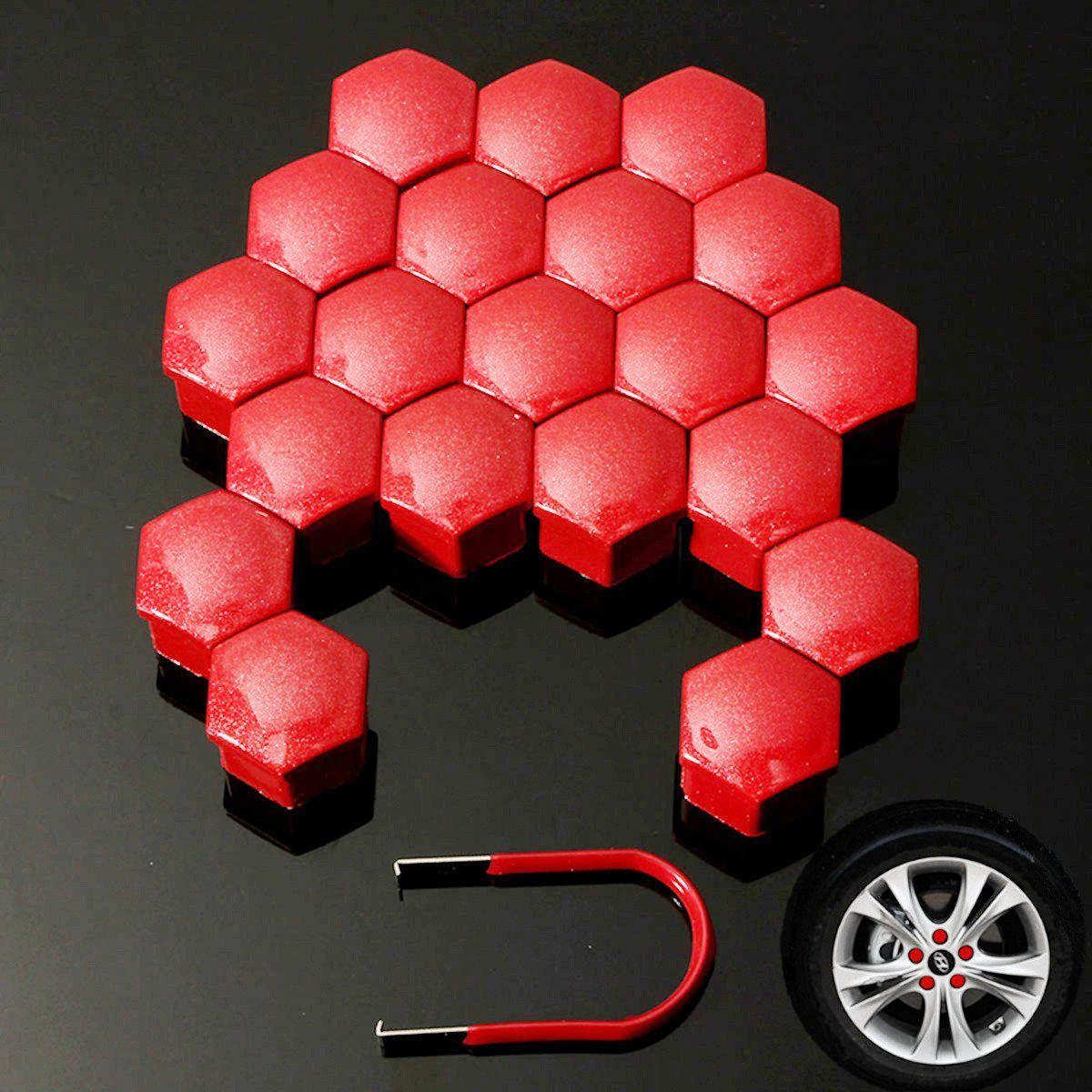 20 teile/satz Universal Auto 21mm Radmutter Bolt Kopf Abdeckkappe Hexagonal Für Audi/BMW/VW