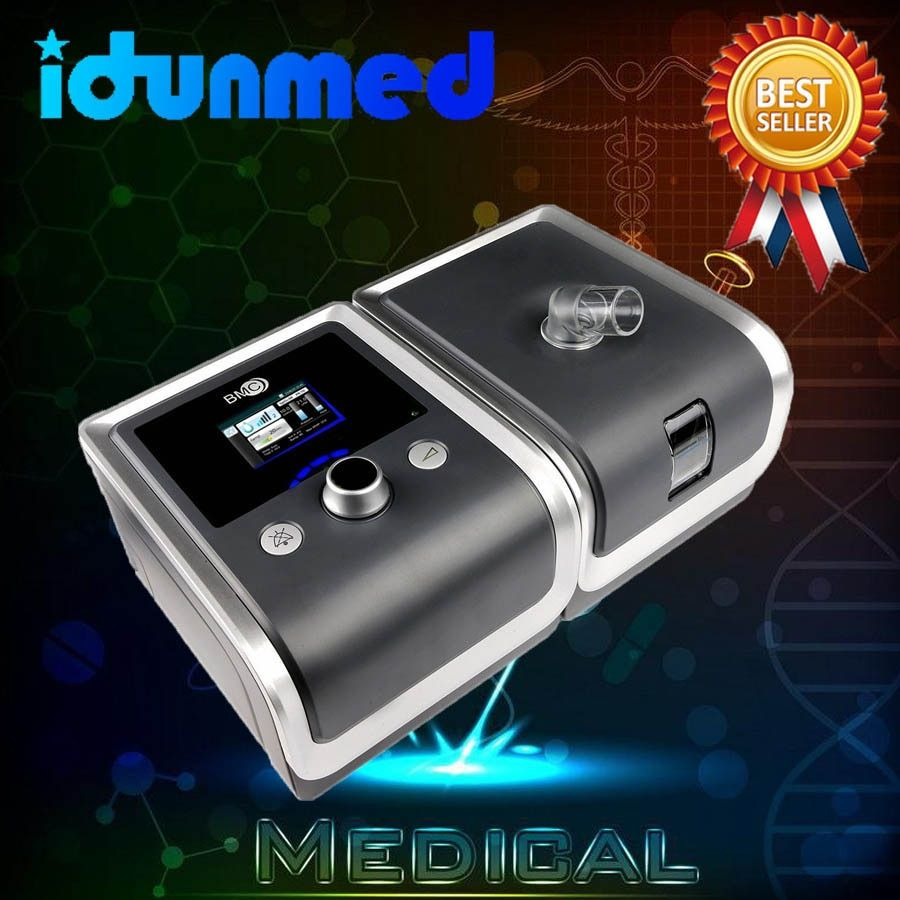 BMC CPAP Maschine Mit Nasen Kissen Maske Schlauch Filter SD Karte Reise Atemschutzgerät Für Schlafapnoe Anti Schnarchen Behandlung