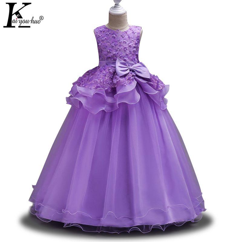 KEAIYOUHUO Vestidos Para Niñas Ropa de Navidad Princesa de La Muchacha de La Boda Vestido de Fiesta de Verano Adolescente Vestido Ropa de Los Niños