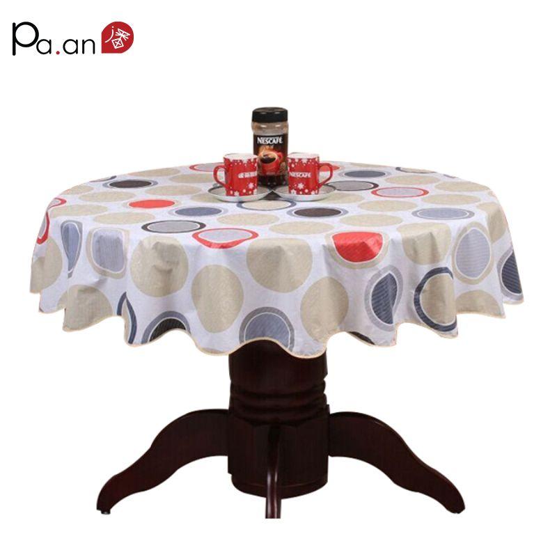 Pastorale en plastique ronde nappe PVC étanche à l'huile romantique fleurs imprimé couverture de Table décoration de mariage vêtements de Table