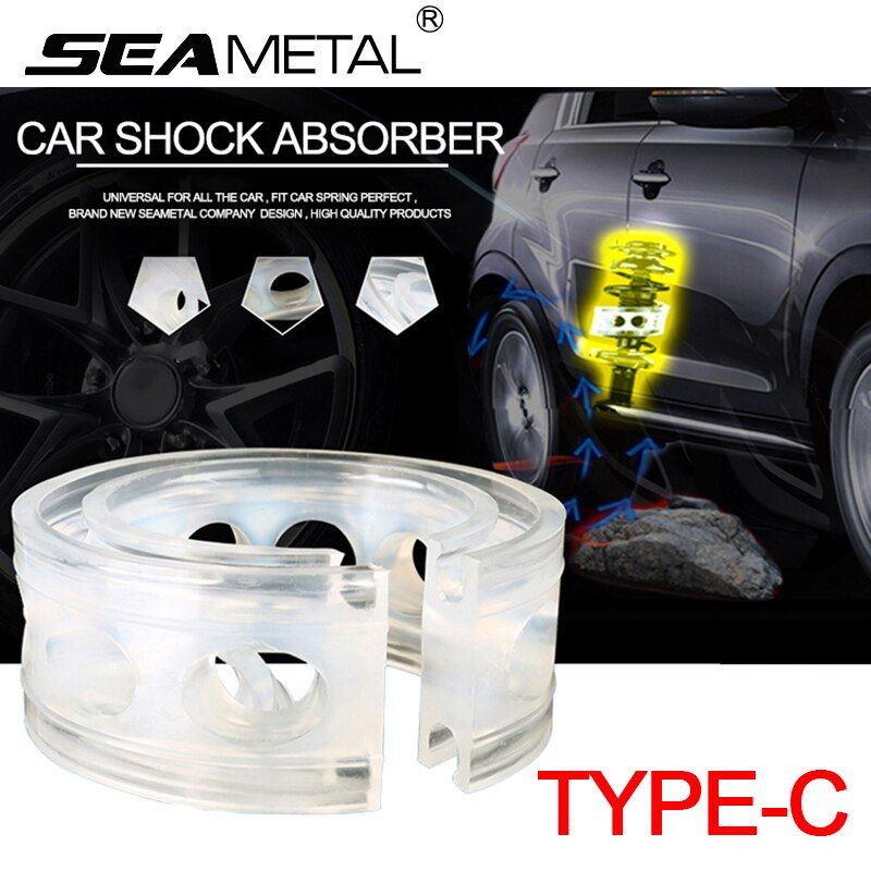 Car Shock Absorber Spring Bumper Power C Type 2Pcs Cushion Buffer Auto Springs Bumpers Universal For Auto-buffer In The Car