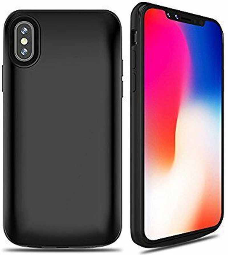 Power Bank High Capacity 6000mAh Rechargeable Charger Portable Charging Case for iPhone X /10 (5.8 inch) Extended Battery Case