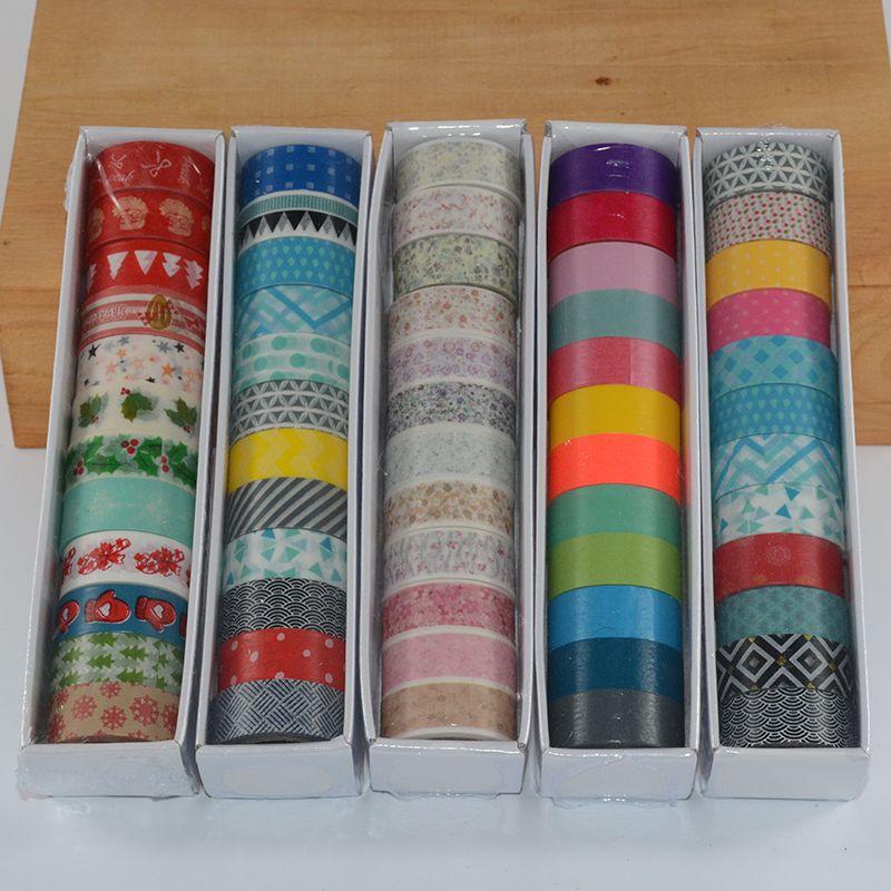 12 unids/set washi cinta adhesiva cinta decorativa floral decorativo lote kawaii flor cintas de enmascarar washi navidad sólido