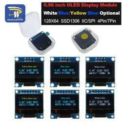 4pin 7pin White and Blue color 0.96 inch 128X64 Yellow Blue OLED Display Module For Arduino 0.96