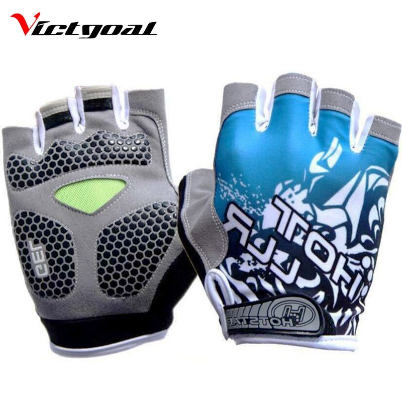 VICTGOAL Cycling Gloves Half Finger Gel Pad Men Women Gloves Anti-Skid Breathable Shockproof Cycling Gloves Accessories N1201