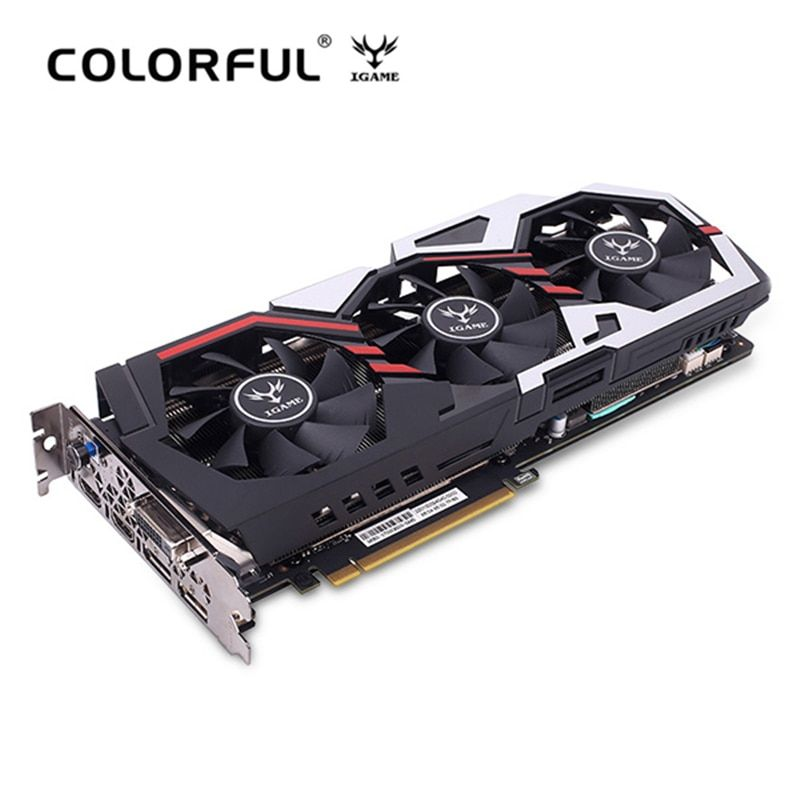 Original Colorful IGame GeForce GTX 1070 Ti U - TOP Graphics Card 8008MHz 256bit 8GB GDDR5 DVI DP HDMI 90mm Fan Armor Backplane