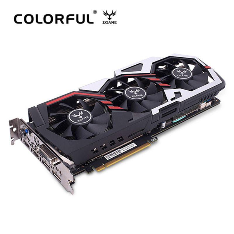 Original Colorful IGame GeForce GTX 1070 Ti U - TOP Graphics Card 8008MHz 256bit 8GB GDDR5 DVI DP HDMI 90mm Fan Armor Backplane
