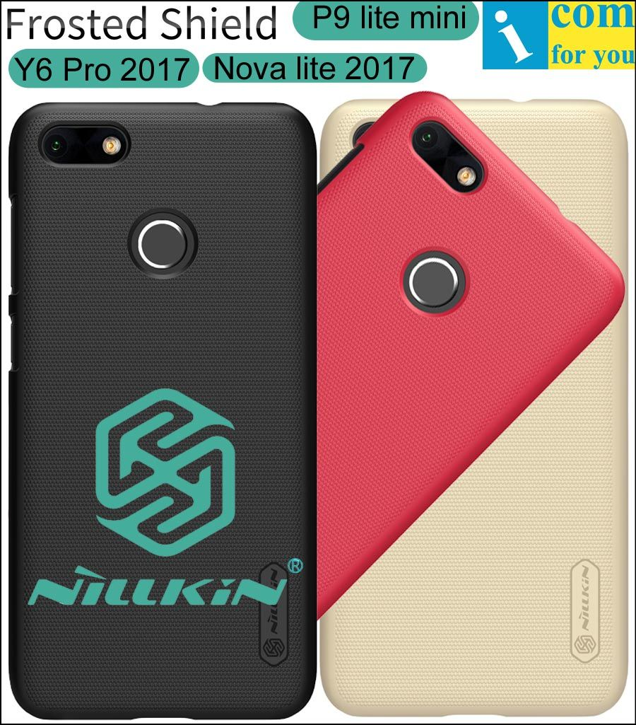 Nillkin Frosted Cover Case For Huawei Y6 Pro 2017 Nova lite 2017 Hard Plastic Protective Shell Shield P9 lite mini + Film