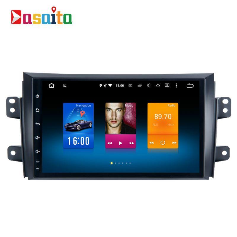 Car 1 din android GPS for Suzuki SX4 2006 - 2014 autoradio navigation head unit multimedia 4Gb+32Gb 64bit Android 6.0 PX5 8-Core