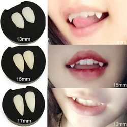 Vampire Teeth Customs Terror Party Cosplay Dentures Fancy Dress Adult Kids Role Playing Prop Accessory With Crystal Box Funny