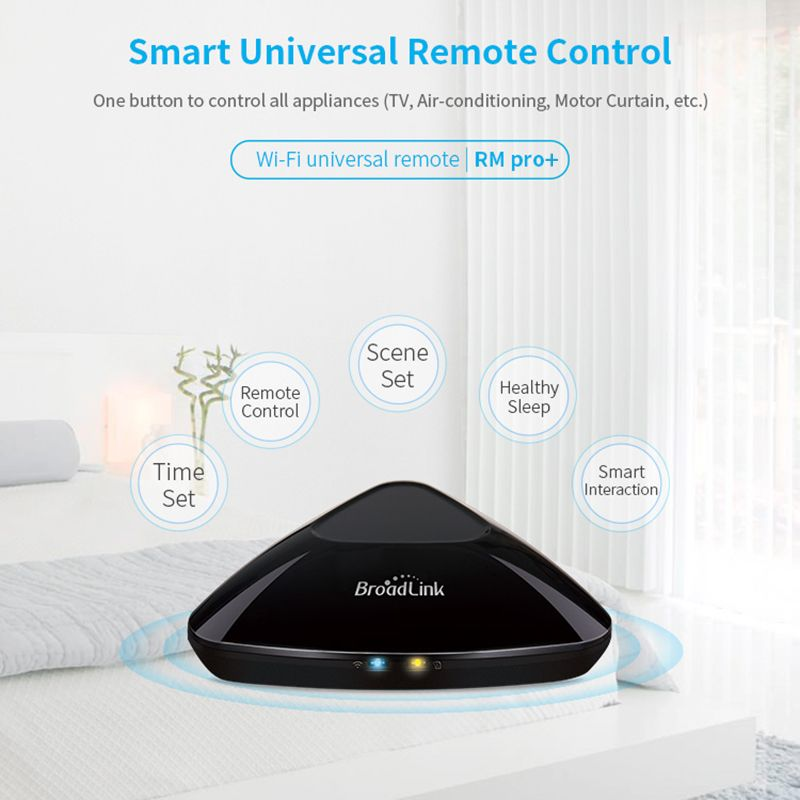 <font><b>Broadlink</b></font> RM33 RM PRO+ Universal Intelligent Remote Controller Smart Home Automation WiFi+IR+RF Switch Via IOS Android Phone