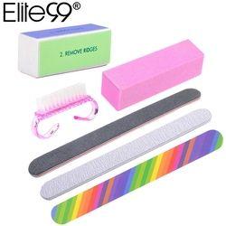 Elite99 6pcs/Set Nail Files Brush Durable Buffing Grit Sand Fing Nail Art Tool Accessories Sanding File UV Gel Polish Tools