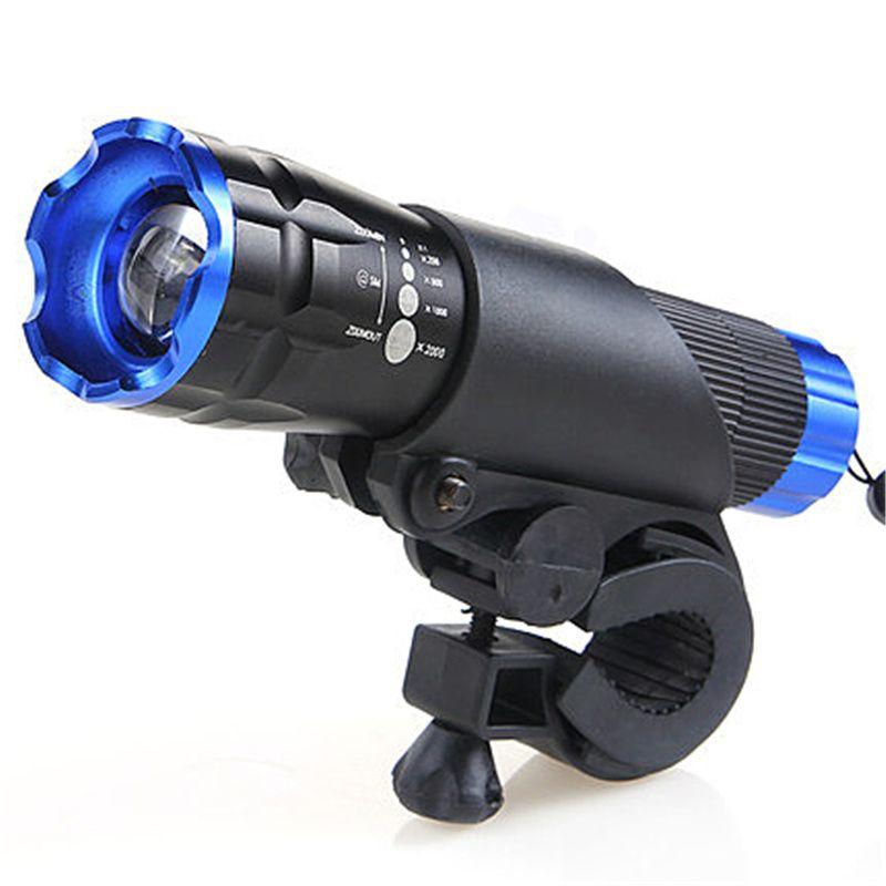 Lampe de poche à tête de vélo chaude LED phare avant phare étanche lampe de poche 2000 Lumens lampes de vélo à zoom rotatif
