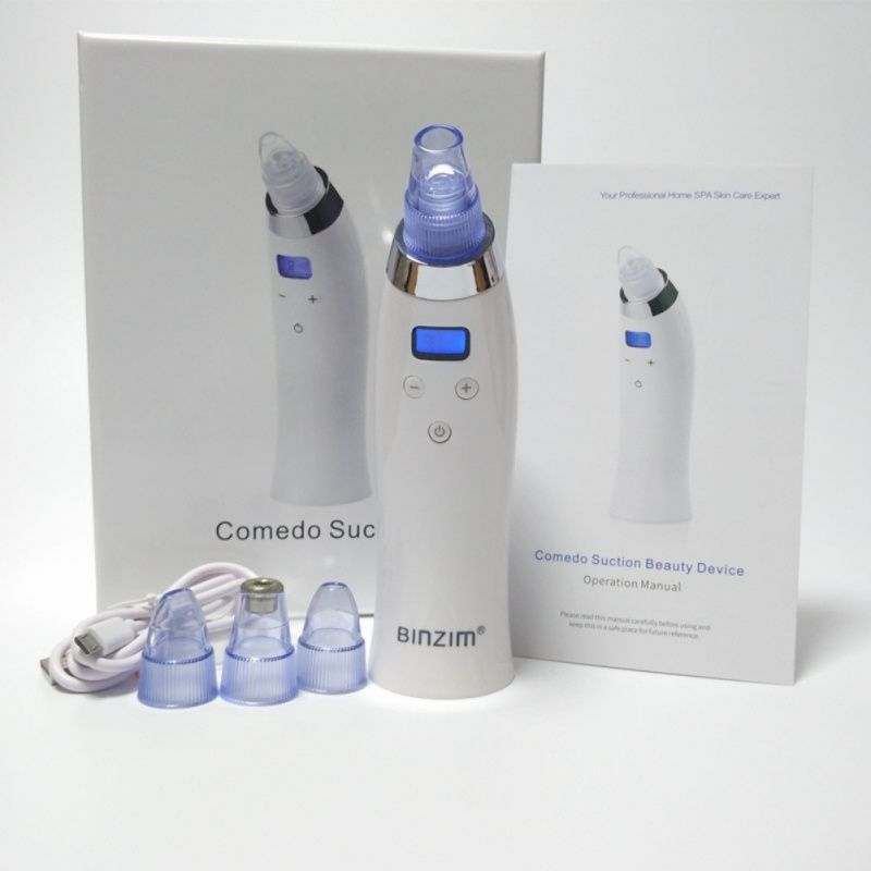 Facial Pore Cleaner Blackhead Removal Vacuum Suction Face Pores Nose Blackhead Cleaner Deadskin Peeling Removal