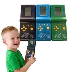 Retro Classic Electronic Puzzle Toys Tetris Game Children's Educational Toys Players Built-in 23 Games Brick Game Tanks War