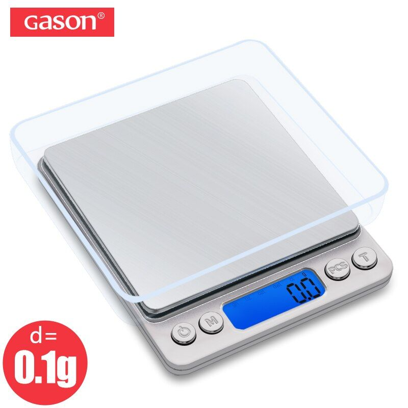 GASON Z1s Digital Kitchen Scale Mini Pocket Stainless Steel Precision Jewelry Electronic <font><b>Balance</b></font> Weight Gold Grams(3000gx0.1g)