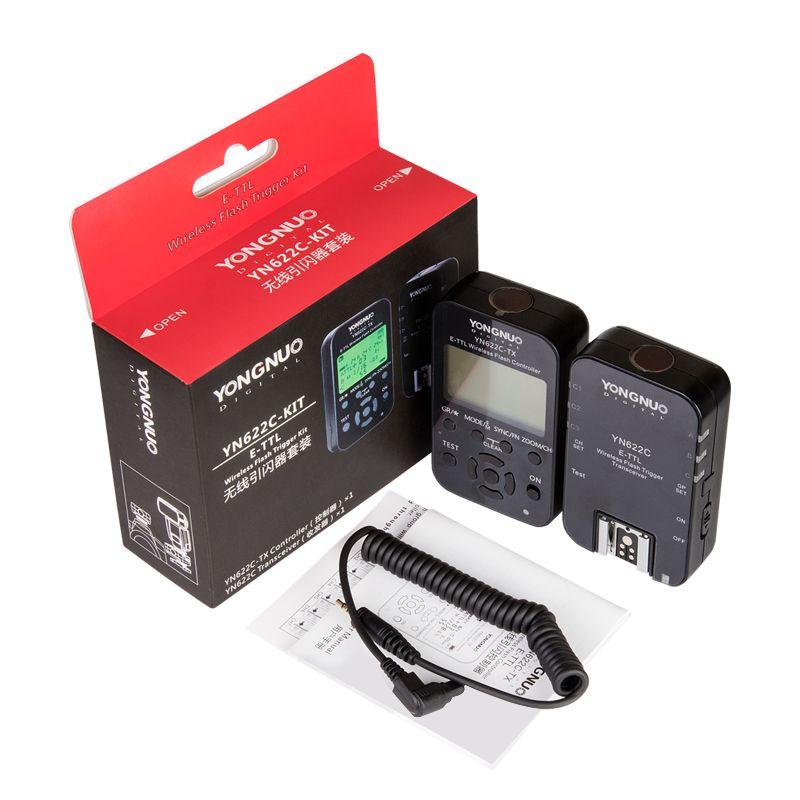 Yongnuo Wireless E-TTL Flash Trigger Kit YN622C-KIT Transmitter Controller YN622C-TX + YN622C Transceiver for Canon YN600EX-RTII