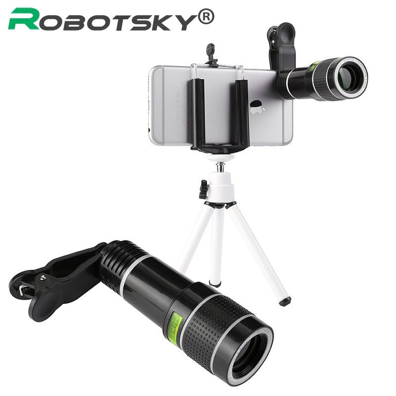20x Universal Telephoto Telescope Mobile Phone Lense Camera Lens and Clip For iPhone X 7 8 plus Samsung Xiaomi Huawei Smartphone