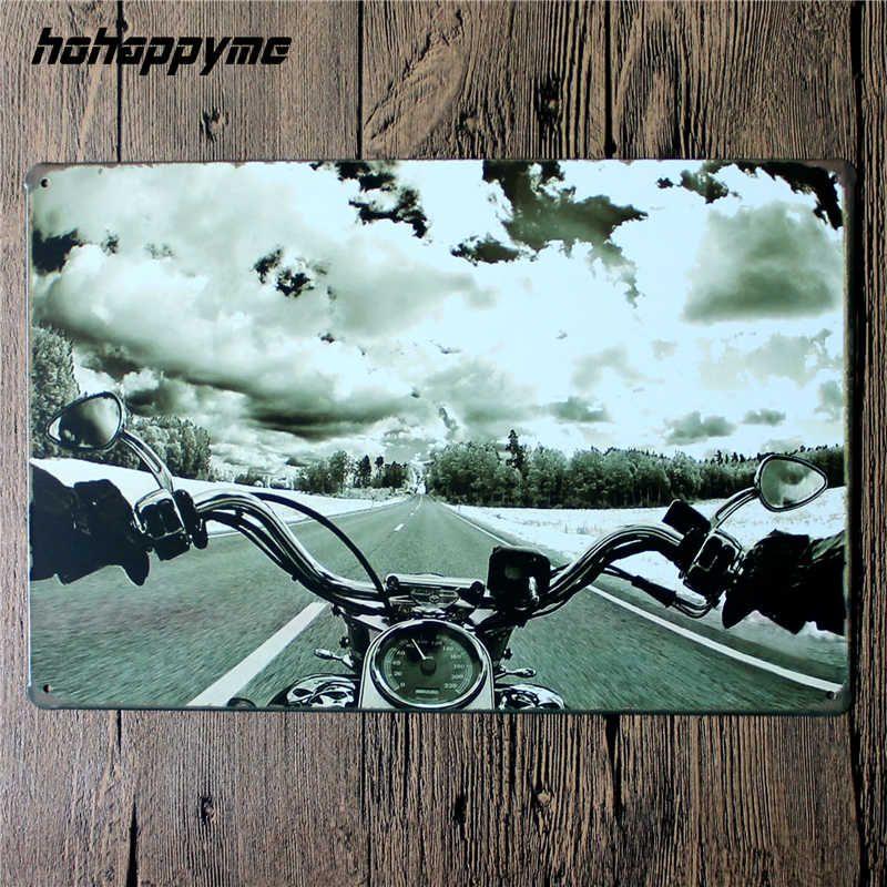 Vintage moto étain signes rétro métal Shabby Chic décor à la maison signes Garage Plaques murales affiche monter à vivre 20*30 cm