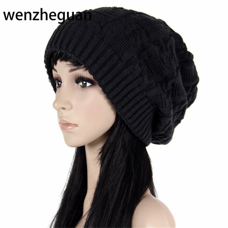 Fashion Caps Warm Autumn Winter Knitted Hats For Women Stripes Double-deck Skullies Men's Beanies 7 Colors Free Shipping
