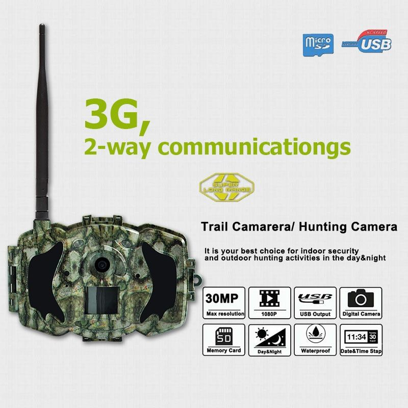 Bolyguard 30MP MMS/GPRS 3G Hunting Camera Wildlife Game Scouting 940nm IR Night Vision 1080HD 100ft Detection Security Camera