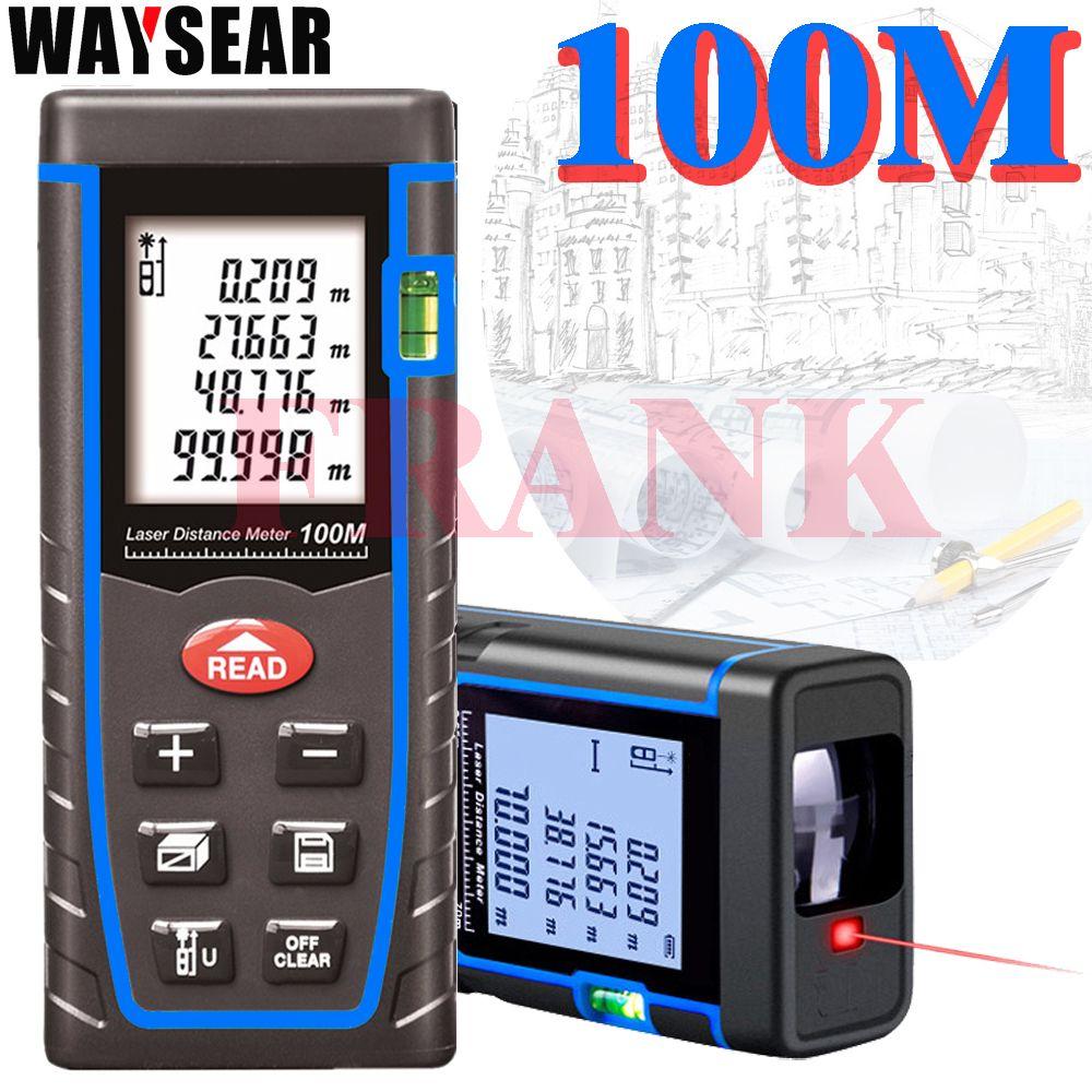 laser rangefinder digital laser rangefinder distance meter 40 M/60M 80 <font><b>100M</b></font> laser tape measure device ruler Angle volume tools