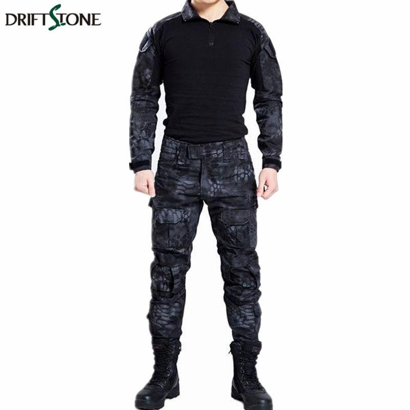 Paintball camuflaje táctico uniforme militar de combate de camuflaje camisa y pantalones de traje ropa militar para el cazador y la pesca