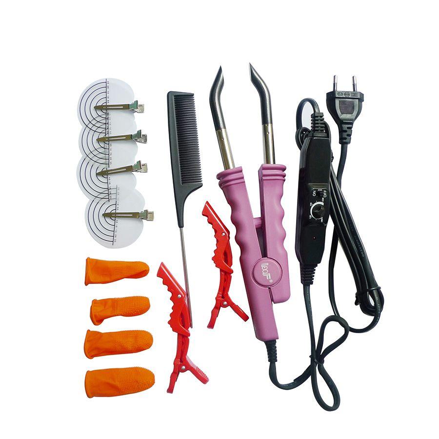 Professionnel Chaleur Variable De Contrôle ASSIETTE PLATE Fusion Hair Extension Kératine Collage Outil de Salon de Fer de La Chaleur Baguette