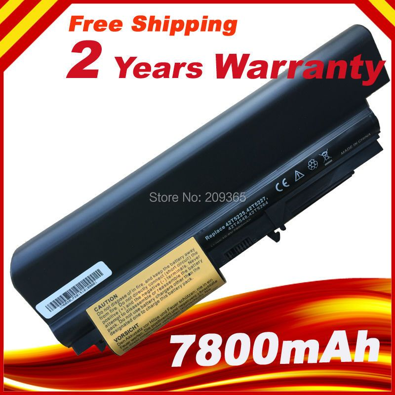 7800 mAh 9 Cell laptop Batterie Für IBM Lenovo ThinkPad T61 R61 R61i T61u R400 T400 42T5226 42T5228 42T4552 42T5225 42T5227