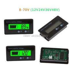 12 V 24 V 36 V 48 V Nouveau LCD Acide Plomb Batterie Au Lithium Capacité Indicateur Numérique Voltmètre Tension Testeur S08 Drop ship