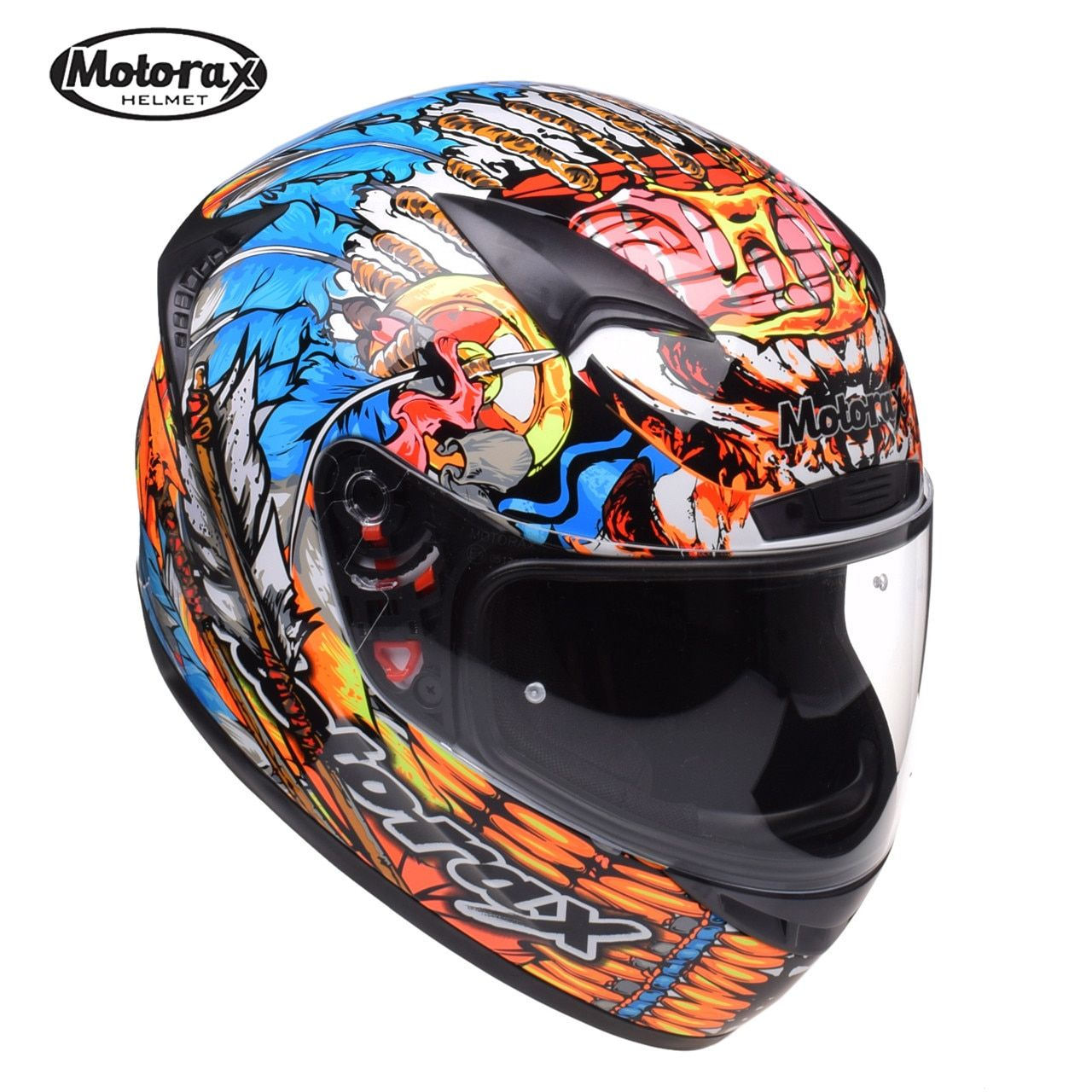 MOTORAX TR30 Indische Racing Motorrad Helm Full Face Capacete Casco Casque Moto Helm Helme Kask Crash Für Honda Motorsiklet