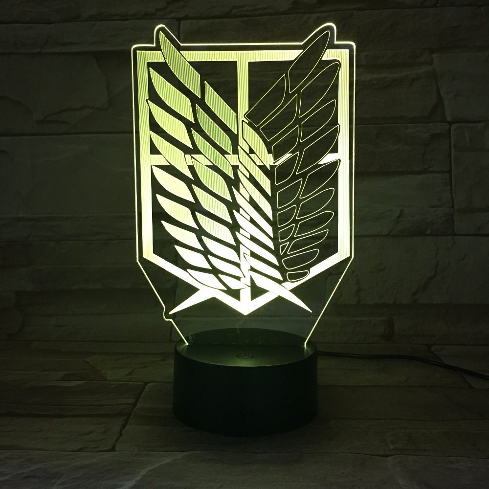 Anime Attack on Titan Wings of Liberty 3D Light Touch LED Lamp USB or 3AA Battery-operated Lamp Kids Gift Free Dropship