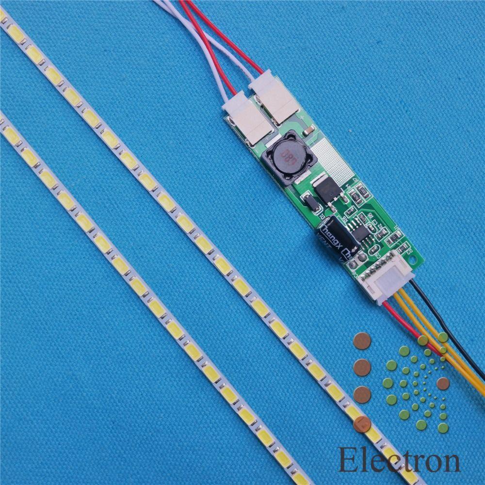2 kits de Lámparas de luz de Fondo LED kit de Actualización Luz LED Ajustable Para 15-24 pulgadas LCD Monitor Universal Resalte Dimable envío Gratis