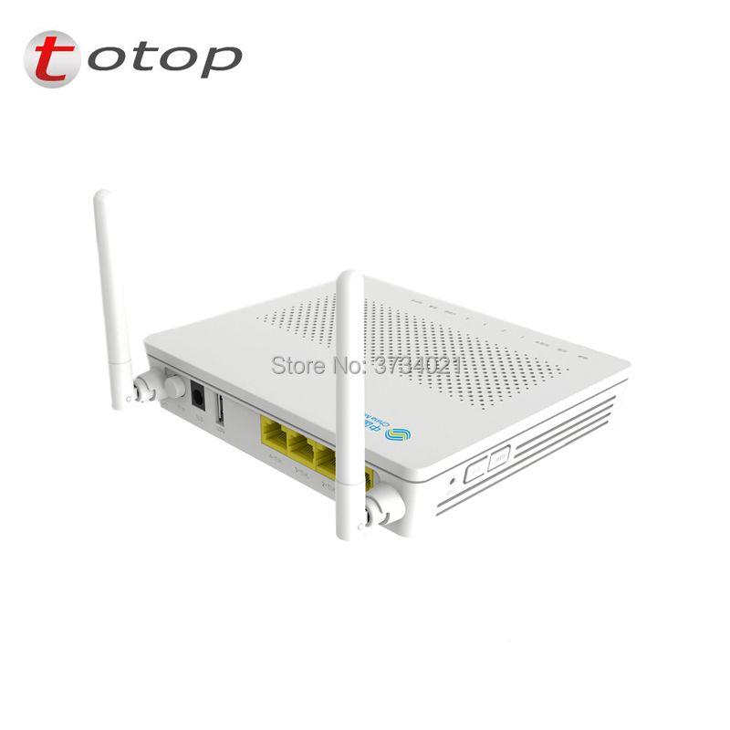 10 pcs/ lot HS8545M GPON ONU ONT FTTH HGU Router Mode 1GE+3FE+1TEL+USB+wifi 1GE+3FE+1voice+usb+WIFI the same function as F623 v6