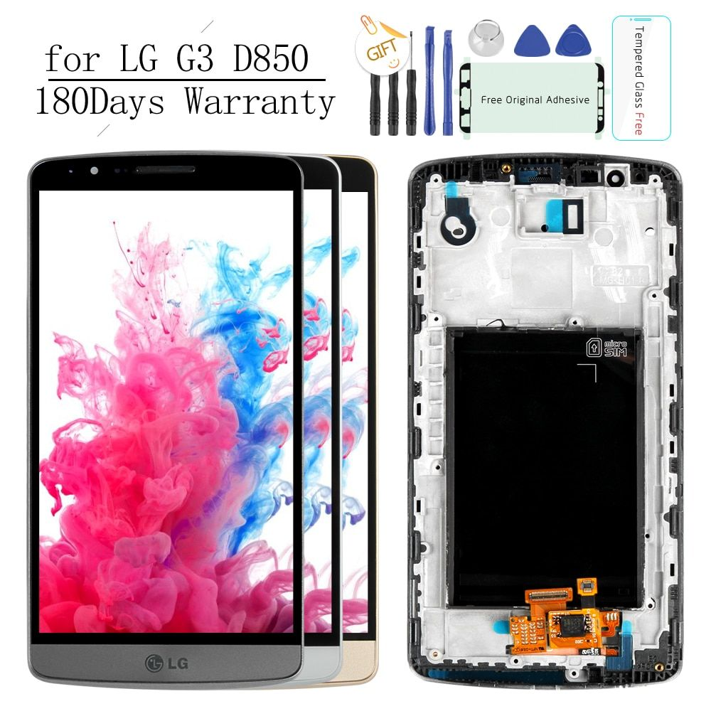 Original Tested Screen for LG G3 LCD Touch Screen Digitizer Assembly LG G3 Display D850 D851 D855 Replacement