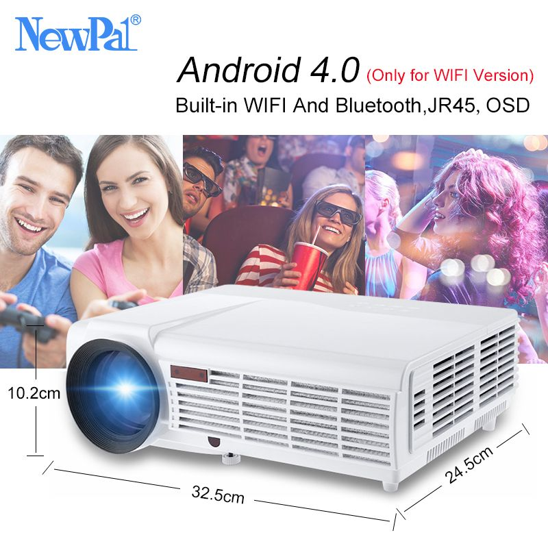 NewPal 5000 Lumen Home Projektor Unterstützung 1920*1080 Pixel Video Android WIFI 3D Mini LED Business School Proyector