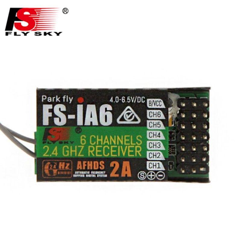 Hot Sale FlySky FS-iA6 iA6 2.4G 6CH AFHDS Receiver For FS-i10 FS-i6 FS i6 Transmitter FPV Racer Parts