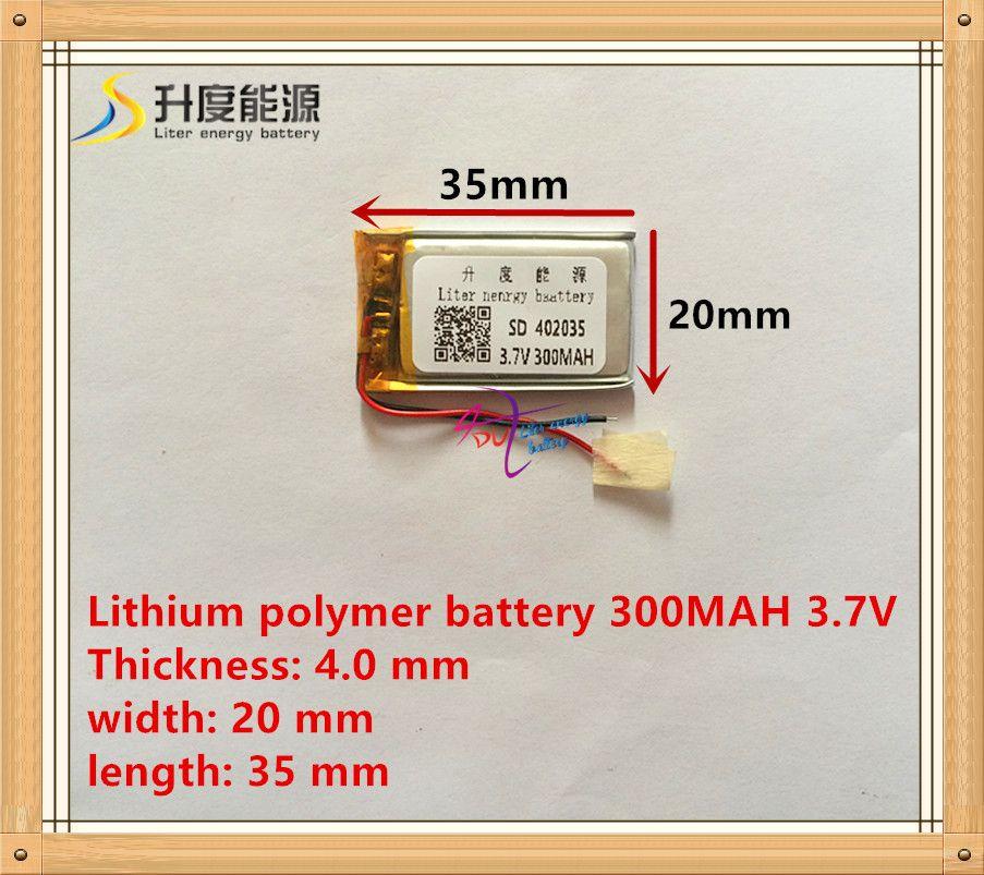 3.7V lithium polymer battery 042035 402035 300MAH MP3 MP4 MP5 battery Bluetooth headset battery