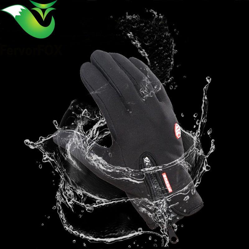 Outdoor Sports Snowboard Skifahren Handschuhe Fahrrad Radfahren Handschuhe Winddicht Winter Handschuhe Thermische Warme Touchscreen Handschuhe